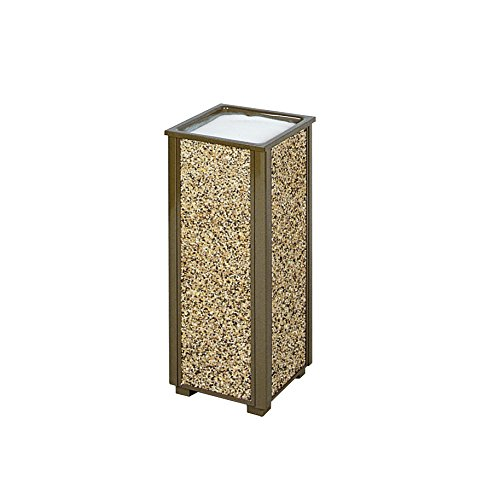 Rubbermaid Commercial Products FGR40201 Aspen Series Outdoor Urn (Brown) (FGR40201) ()