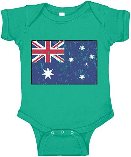 Amdesco Australia Flag Australian Infant Bodysuit, Kelly Green Newborn