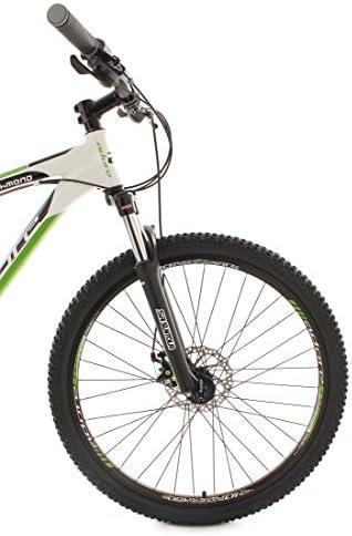 KS Cycling Richmond de Adore - Bicicleta de montaña enduro, color blanco / verde, ruedas 26