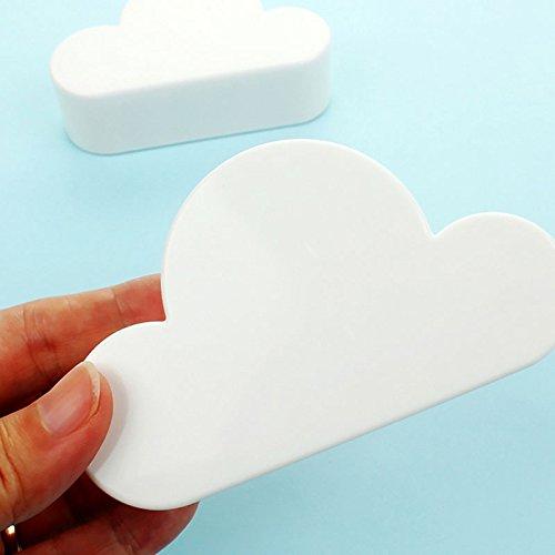 und Wohnzimmer Dekoration 2/St/ück Neuheit wei/ß Cloud Formen Key-Wand Halterung Leistungsstark Magnete halten Schl/üssel Ketten Aufh/änger f/ür Zuhause B/üro