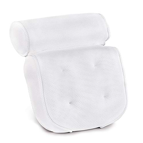 Bath Pillow-Luxury Spa Bathtub Cushion Head,Neck,and Shoulder Support with 4 Non-Slip Strong Suction Cups Father's Day Gifts Outfit Decorations