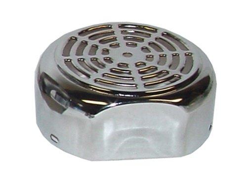 Chrome Air Compressor Cover - Airbagit COM-DCX5-F3 Air Compressor - Fan Cover Chrome
