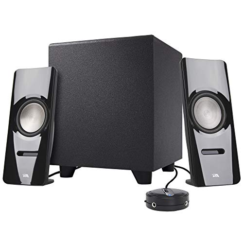 (Cyber Acoustics 2.1 Stereo Speaker System with Subwoofer - Computer and Home Audio Set for PC, Tablet, Smartphone and Gaming Sound System - Includes Bluetooth Connectivity (CA-SP26BT))