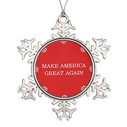 xmas christmas tree decoration snowflake ornaments president donald trump make america great again snowflake pewter christmas