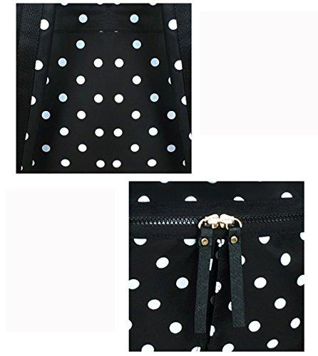 Bolso de hombro ligero del punto blanco y negro, bolso con estilo de múltiples funciones de la momia