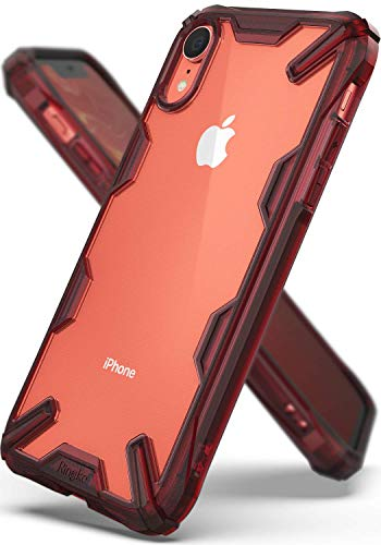 Ringke Fusion X Designed for iPhone XR Case PC TPU Rugged Protective Phone Case Cover for iPhone 10R (6.1) (2018) - Ruby Red