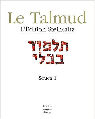 Souca 1, Talmud, vol XIII epub, pdf