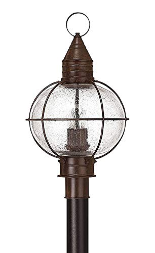 Hinkley Lighting Cape - Hinkley 2201SZ Rustic Four Light Post Top/ Pier Mount from Cape Cod collection in Bronze/Darkfinish,