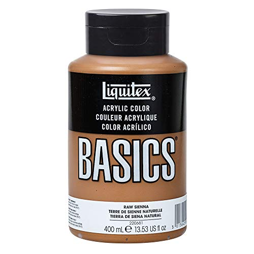 - Liquitex BASICS Acrylic Paint, 13.5-oz bottle, Raw Sienna