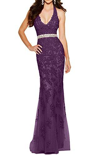 V Meerjungfrau Figurbetont Ausschnitt La mia Formalkleider Braut Traube Ballkleider Sexy Tief Partykleider Abendkleder vwvIqzp