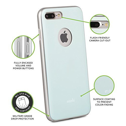 Moshi iGlaze Case für Apple iPhone 7 Plus, blau