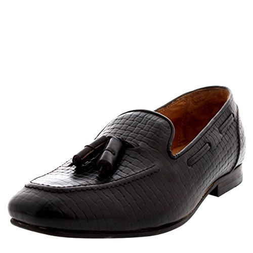 Mens H Di Hudson Pierre 2 Smart Mocassino Da Lavoro Slip On Flat Leather Shoes - Brown - 7/40