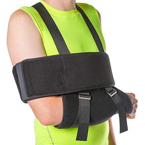 Swathe Immobilizer - BraceAbility Sling and Swathe Immobilizer for Dislocated Shoulder, Broken Arm, Fractured Humerus or Clavicle, Post Rotator Cuff Surgery (One Size - Fits Men & Women up to 54