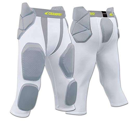 Youth Football Pants Pads - FPGU7 Champro Man Up 7 Pad Girdle football pant CH White YOUTH SMALL