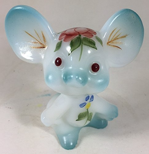 Fenton Art Glass Mouse - Hand Painted & Airbrushed - American Made ()