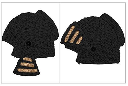 Mano Tejida Viento Pulpo Hat de Negro M¨¢scara de a Prueba Unisex Roma MOONPOP Sombrero A Negro xY87w