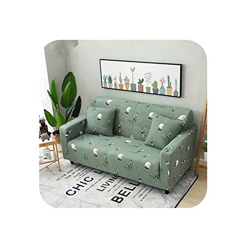 - Miracle day Green Sofa Cover Cactus Couch Cover Potted Plants Cover Sofa Elastic Universal Succulent Plants Lounge Covers Housse Canape,SC130,Single Seat 90-140cm