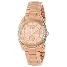 ESQ Movado Women's 07101435 Origin Ionic Rose Gold Plated Stainless Steel Case Diamonds Bracelet Rose Gold Tone Dial Watch