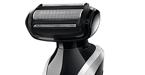 Philips Norelco WASHABLE Full Body Groomer with Exclusive ALL NEW Turbo Boost Feature & 8 Attachments Full-Size Metal Guard Trimmer, Bodygroom Foil Shaver, and Body Trimmer Comb, Precision Trimmer, with Hair Clipping Comb, Mini Foil Shaver, and Beard and  by Philips Norelco (Image #2)