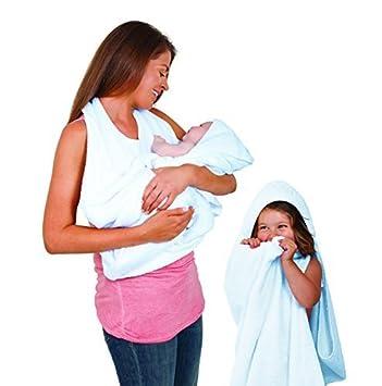 Amazon Com Clevamama Splash And Wrap Baby Bath Towel Blue Baby
