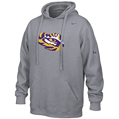 Discount Nike LSU Tigers Ash Flea Flicker Hoody Sweatshirt for cheap