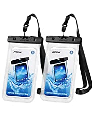 IPX8 Certified  Designed for underwater use, swimmers, surfers, and scuba divers, this rated IPX8 certified waterproof bag can guard your phones from water, ice and dirt. It can protect not only your phone, but also those carry-on documents, ...