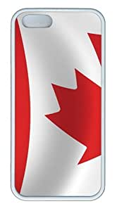 Flag Canada15 Custom iPhone 5s/5 Case Cover TPU White by mcsharks