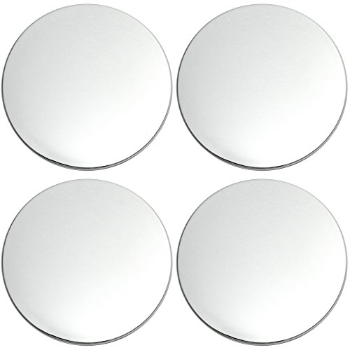 OxGord Center Caps Best for 2002-2006 Cadillac Escalade (Set of 4) Chrome Wheel Cover Replacements