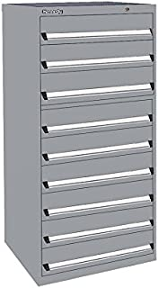 """product image for Kennedy Manufacturing 63611UGY Modular Drawer Cabinet, 30"""" Length, 30"""" Width, 60"""" Height, 9 NX Utility Drawers, Gray"""