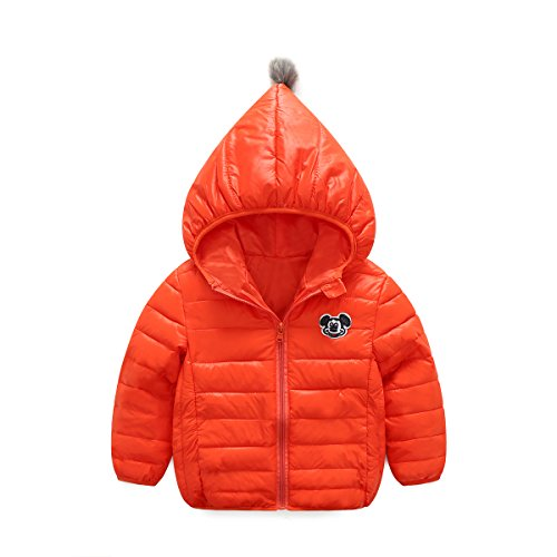 Price comparison product image 2017 new 3 to 8 years old children down jacket boys and girls down jacket sportswear (3T(100), red)