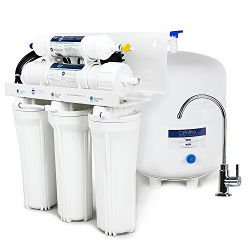 Olympia Water Systems Permeate Pump Reverse Osmosis Water Filtration System with 50GPD Membrane - For Low Water Pressure (Pump Ro Permeate)