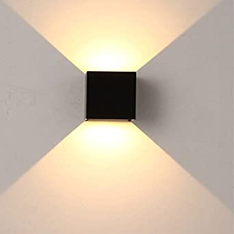 LED Moderna Lámpara de Pared 18W lámpara de pared regulable exterior impermeable IP63 escaleras hotel aluminio lámpara de pared LED luz cálida 12X10X10CMLED Lámpara de pared。: Amazon.es: Iluminación