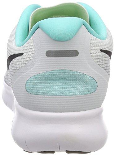 Nike Wmns Free RN 2017, Zapatillas de Running Para Mujer Blanco (Weiß/anthrazit Grau-reines Platin)