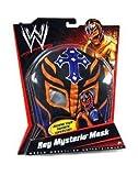 Mattel WWE Wrestling Rey Mysterio Mask Black, Purple Cross & Orange Trim