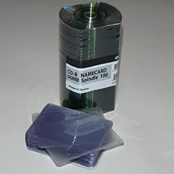 Amazon business card 24x cd r 50mb shiny silver w vinyl ritek ridata business card 24x cd r 50mb shiny silver 100 discs colourmoves