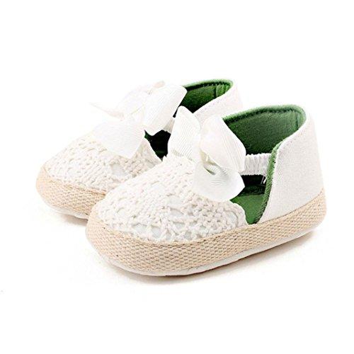 Igemy 1Paar Kleinkind Mädchen weich Sole Crib Schuhe Sneaker Baby Schuhe Weiß