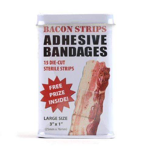 Bacon Strips Band Aids   Comes W  Free Prize