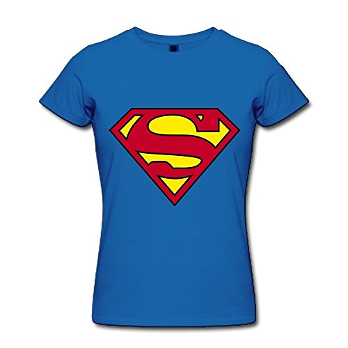 HD-Print New Design Superman Logo T-shirt For Women RoyalBlue Size M ()