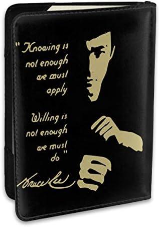 ブルースリー個性デザイン パスポートケース パスポートカバー メンズ レディース パスポートバッグ ポーチ 収納カバー PUレザー 多機能収納ポケット 収納抜群 携帯便利 海外旅行 出張 クレジットカード 大容量