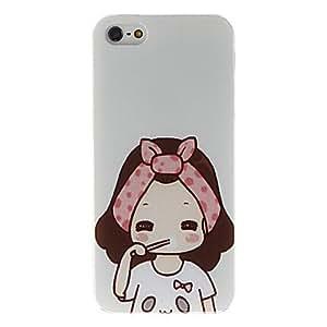 TY-Cepillado caso duro del patrón de la muchacha para el iphone 5/5s