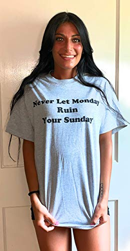 Deano's Never Let Monday Ruin Your Sunday Shirt, Sunday Fun Day, Weekend Fun T-Shirt (XX Large) - Day T-shirt Sunday Fun