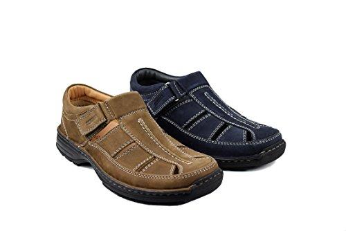 Sandali da da Sandali Sandals oltremare Uomo Uomo Uomo di Navy da da Sandali Man Estivi Blu Sandali da Cuoio Hiking Trekking Zerimar Uomo Yq5a8