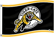 Tiger-Cats Flag 3x5Ft CFL Logo Heavy Duty Shiny satin Banner New-Ideal Gift for the Loyal Sports Fan