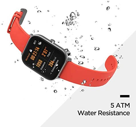 Amazfit GTS Fitness Smartwatch with Heart Rate Monitor, 14-Day Battery Life, Music Control, 1.65″ Display, Sleep and Swim Tracking, GPS, Water Resistant, Smart Notifications, Rose Pink 417SXZypJpL