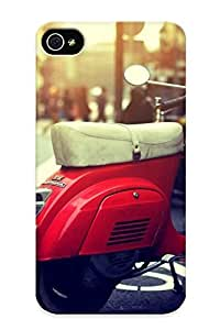 Eatcooment Case Cover Red Vespa/ Fashionable Case For Iphone 4/4s