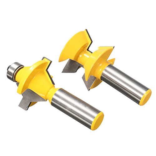 2pcs 1/2 Inch Shank Groove Router Bit Set Woodworking Cutter by SPS_IN (Image #5)