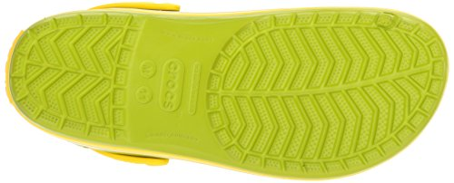 Crocs Unisex Adult Crocband Clogs Green (Volt Green/Lemon) IJaAT