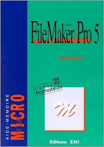 Télécharger en ligne Filemaker Pro 5 pdf, epub