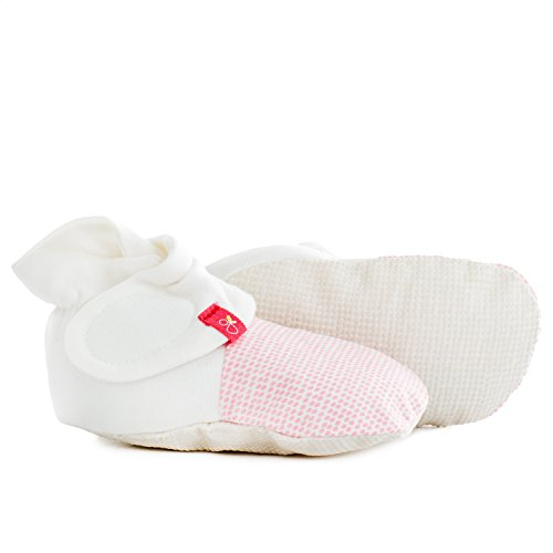 Goumikids - Goumiboots, Soft Stay On Booties Keeps Feet Warm and Adjusts to Fit as Baby Grows (School of Fish/Aqua, 0-3 Months)