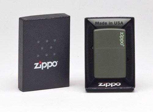 Zippo 221ZL Green Matte w/Zippo Logo Lighter